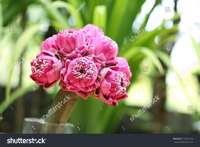 Wedding flowers from pink lotus flower ez canvas id 137081126 izmirmasajfo