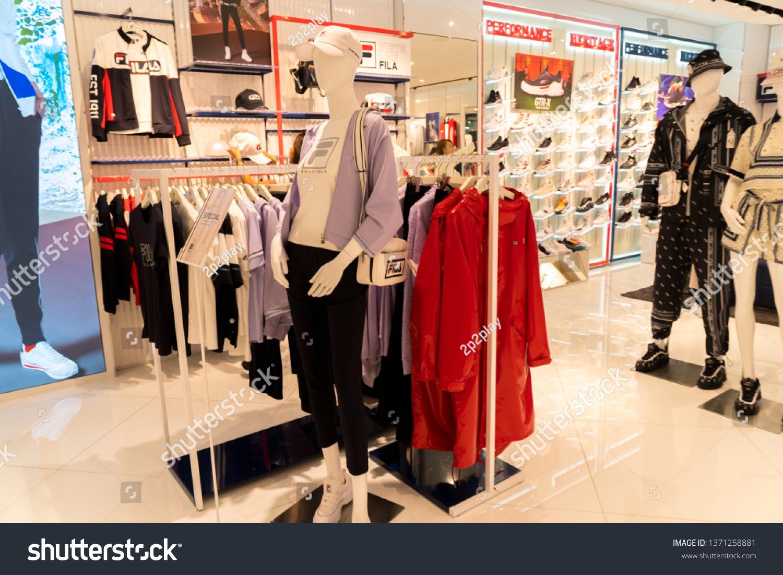 c88116483d SINGAPORE MARCH 13 2019 Fila Store Stock Photo (Edit Now) 1371258881 ...