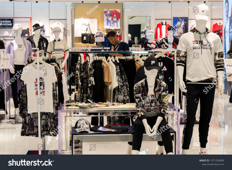 03b323cf5c SINGAPORE - MARCH 13, 2019: Fila store at Vivo city mall in Singapore,