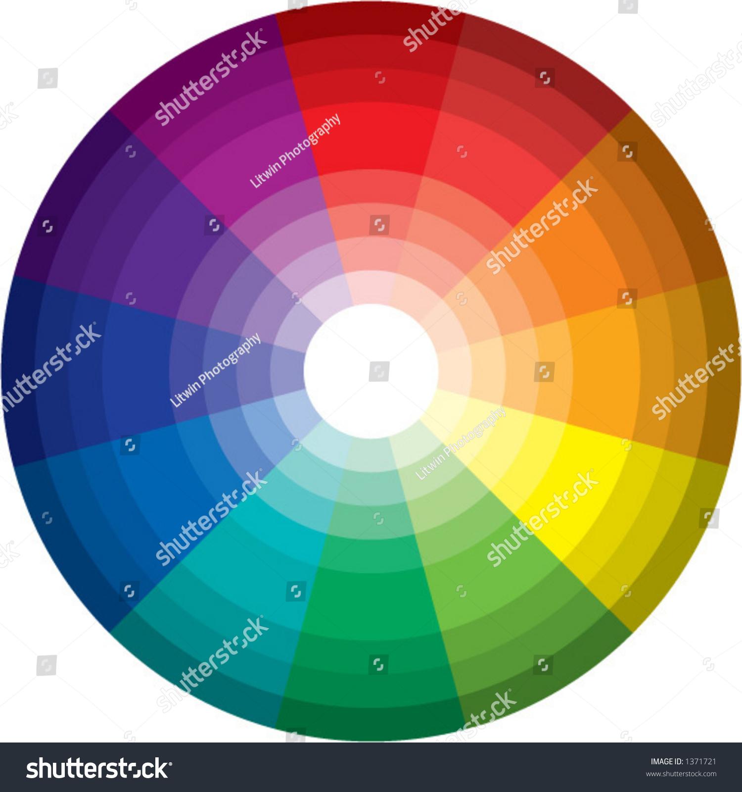 96 Color Spectrum Wheel Vector Stock 1371721