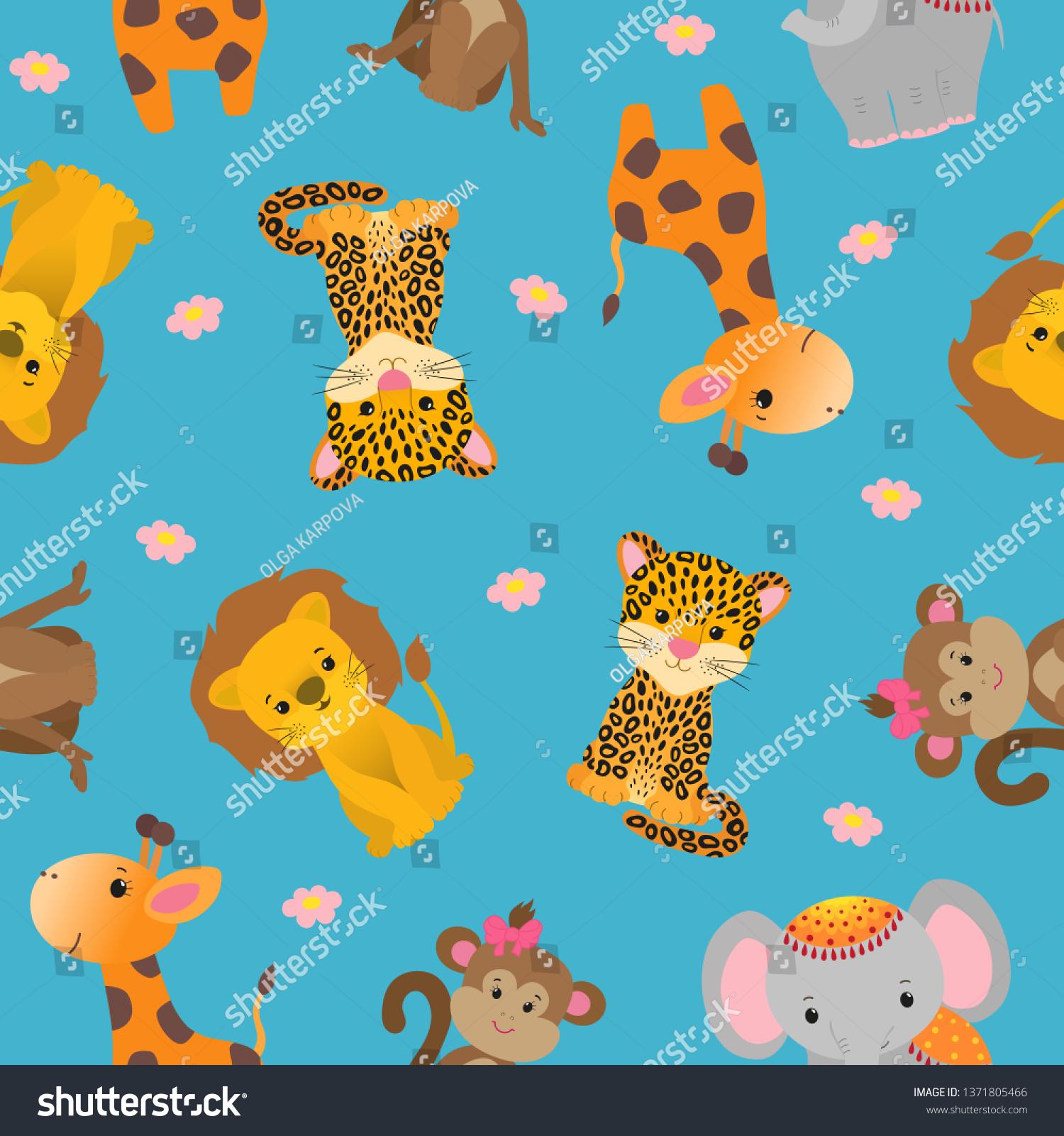 Animated Cheetah Wallpaper cute african animals seamless pattern cheetah stock vector