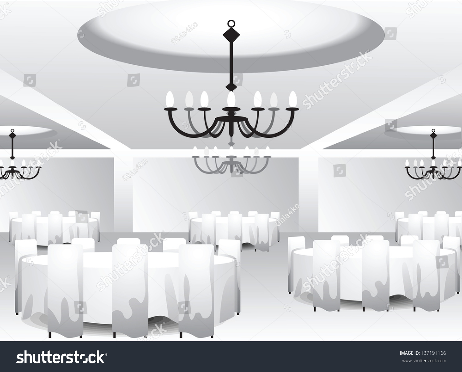 White template celebration hall event designers stock vector white template of celebration hall for event designers or wedding planners grouped layered file arubaitofo Image collections
