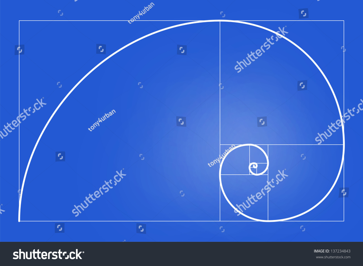 Very big size golden ratio golden stock illustration for Size and proportion