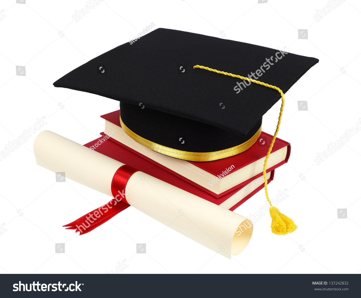 graduation cap books diploma isolated on stock photo image rh shutterstock com graduation cap and diploma clipart