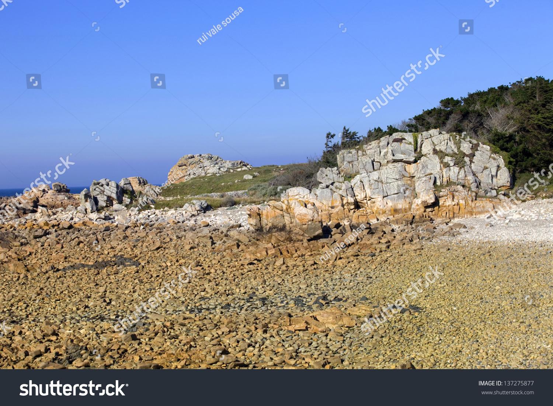 Cote De Granite Rose Brittany Coast Stock Photo 137275877 ...