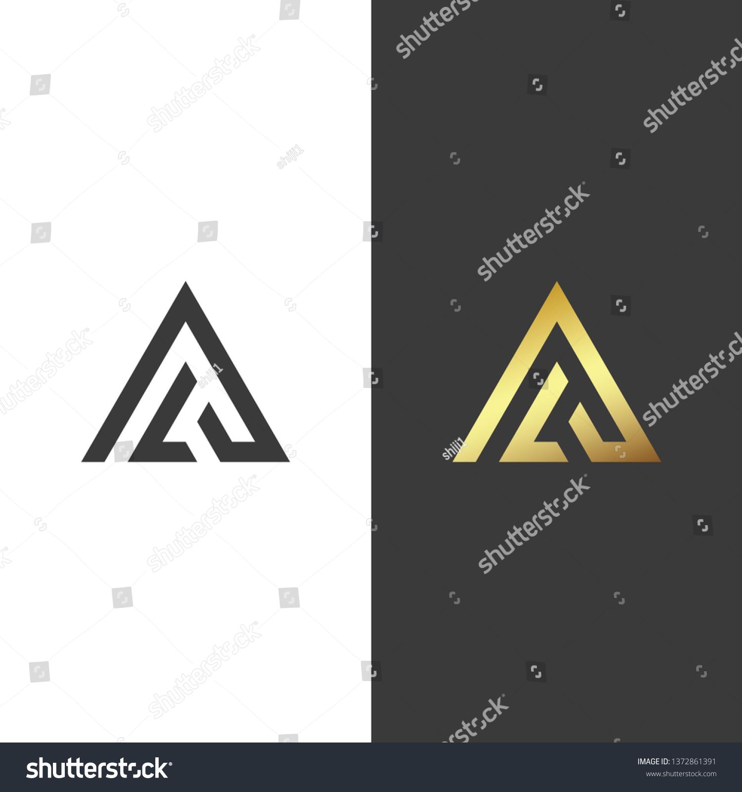 Al Monogram Logo Stock Vector Royalty Free 1372861391