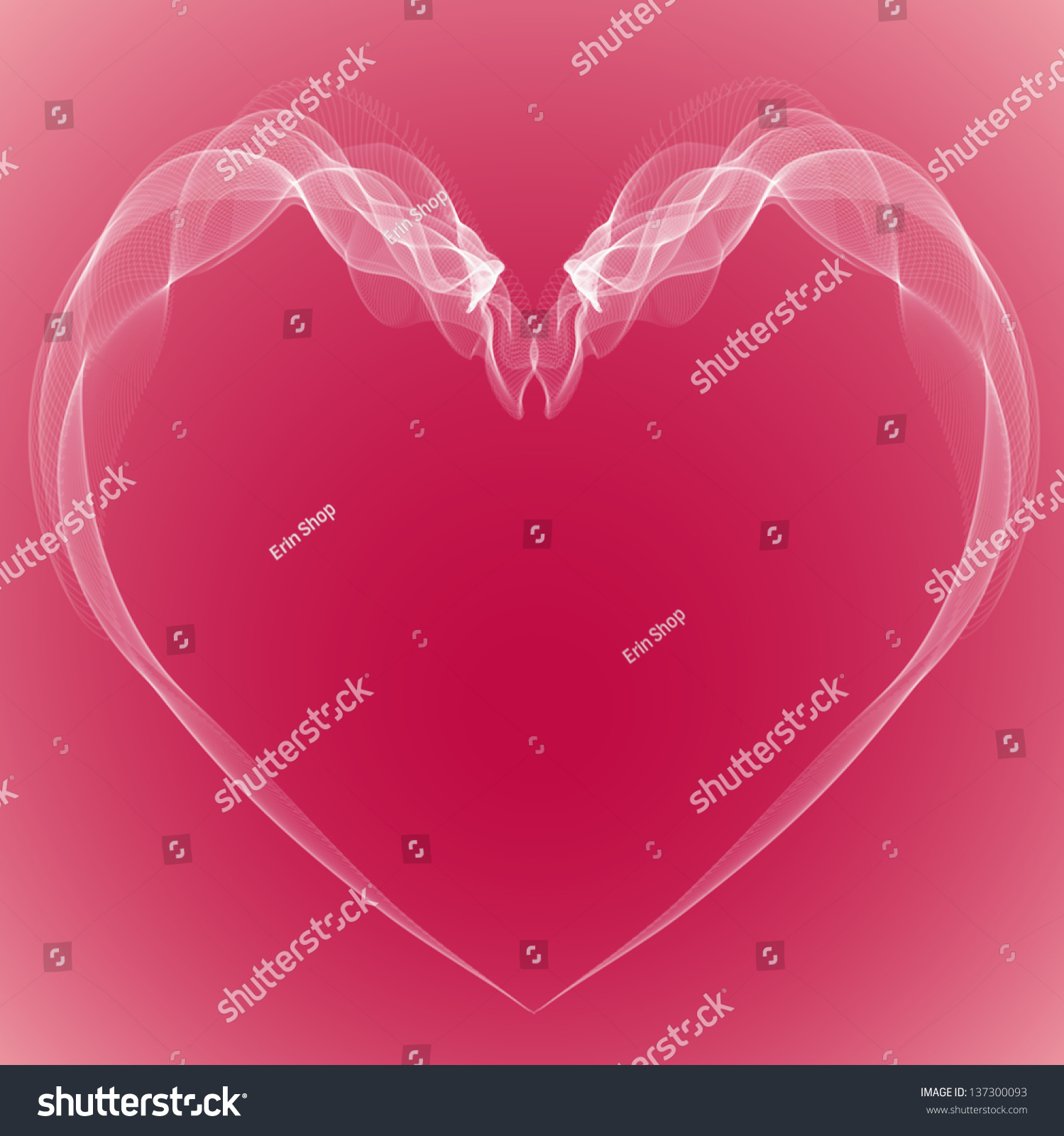 Heart Brides Veil Form Two Doves Stock Illustration 137300093 ...