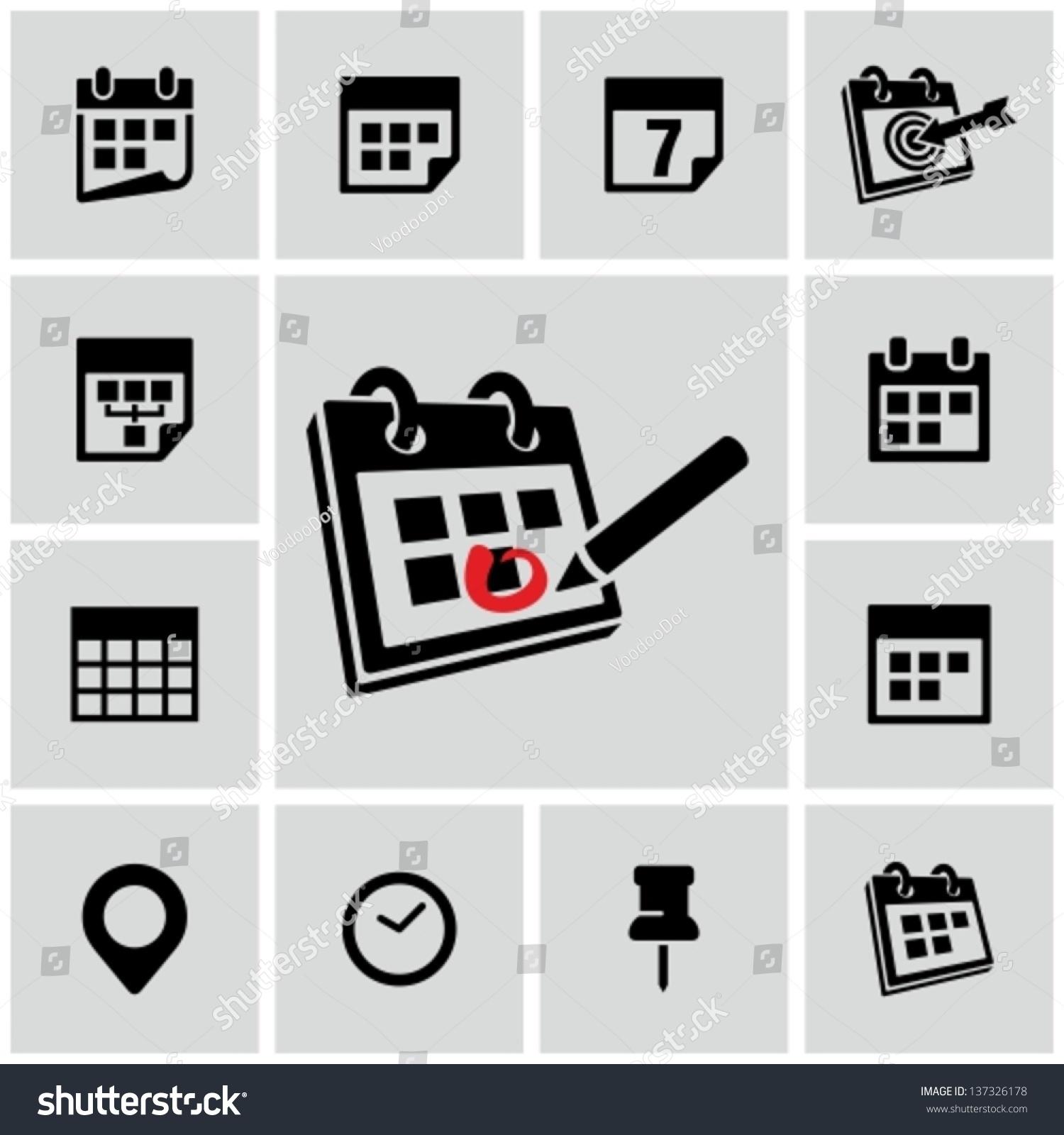 Calendar Icon Stock Vector 137326178 - Shutterstock
