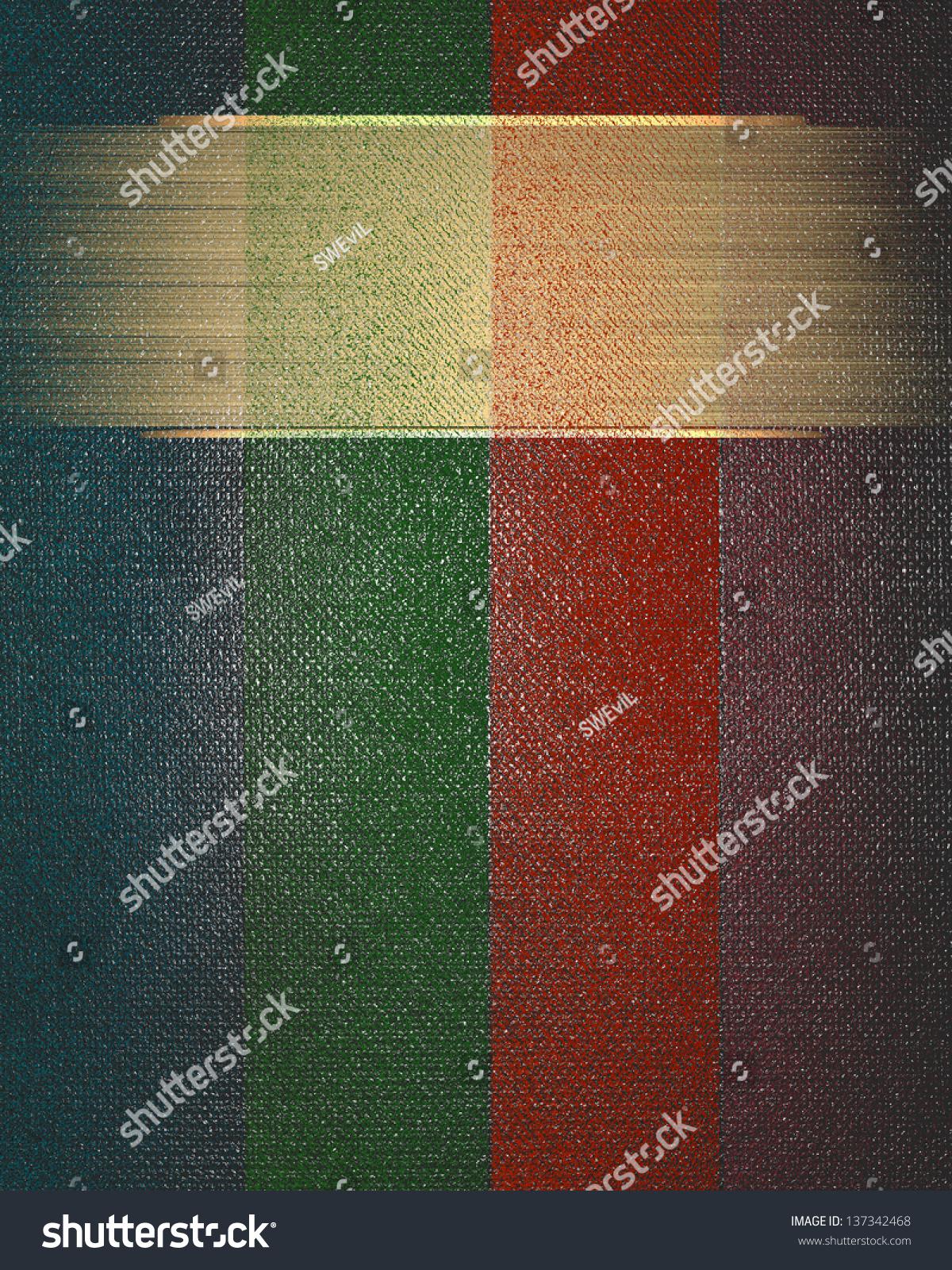 Color Paper Background Gold Name Plate Stock Illustration 137342468