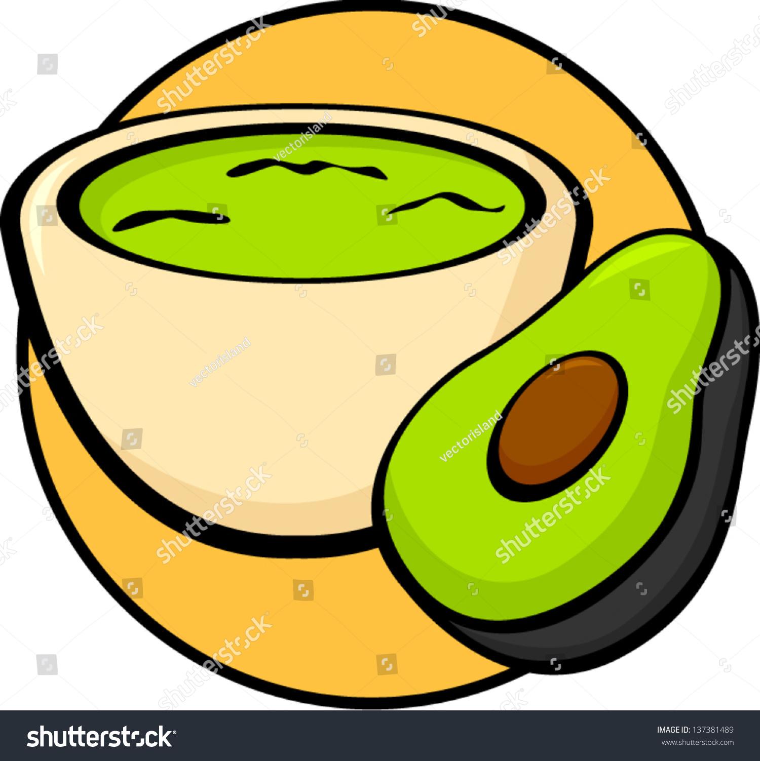 Guacamole Clipart guacamole dip stock vectors & vector clip art ...