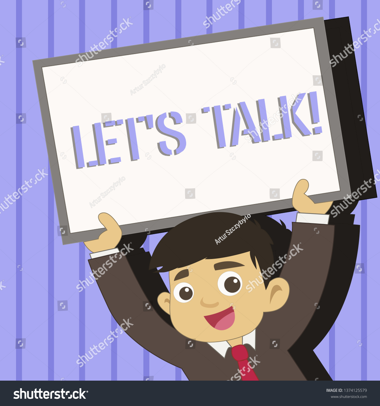 Word Writing Text Let S Talk Stock Illustration 10