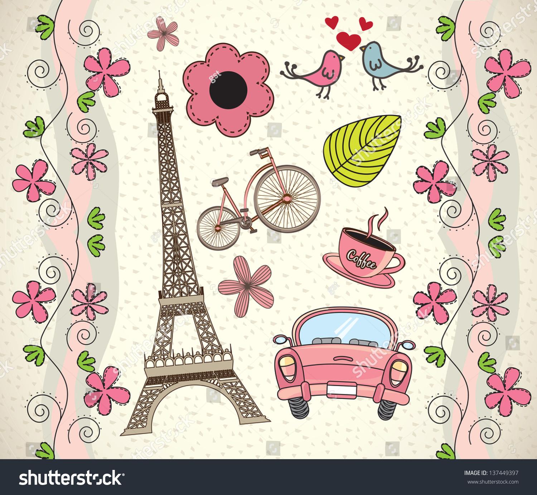 Gambar Gambar Paris Kartun Love