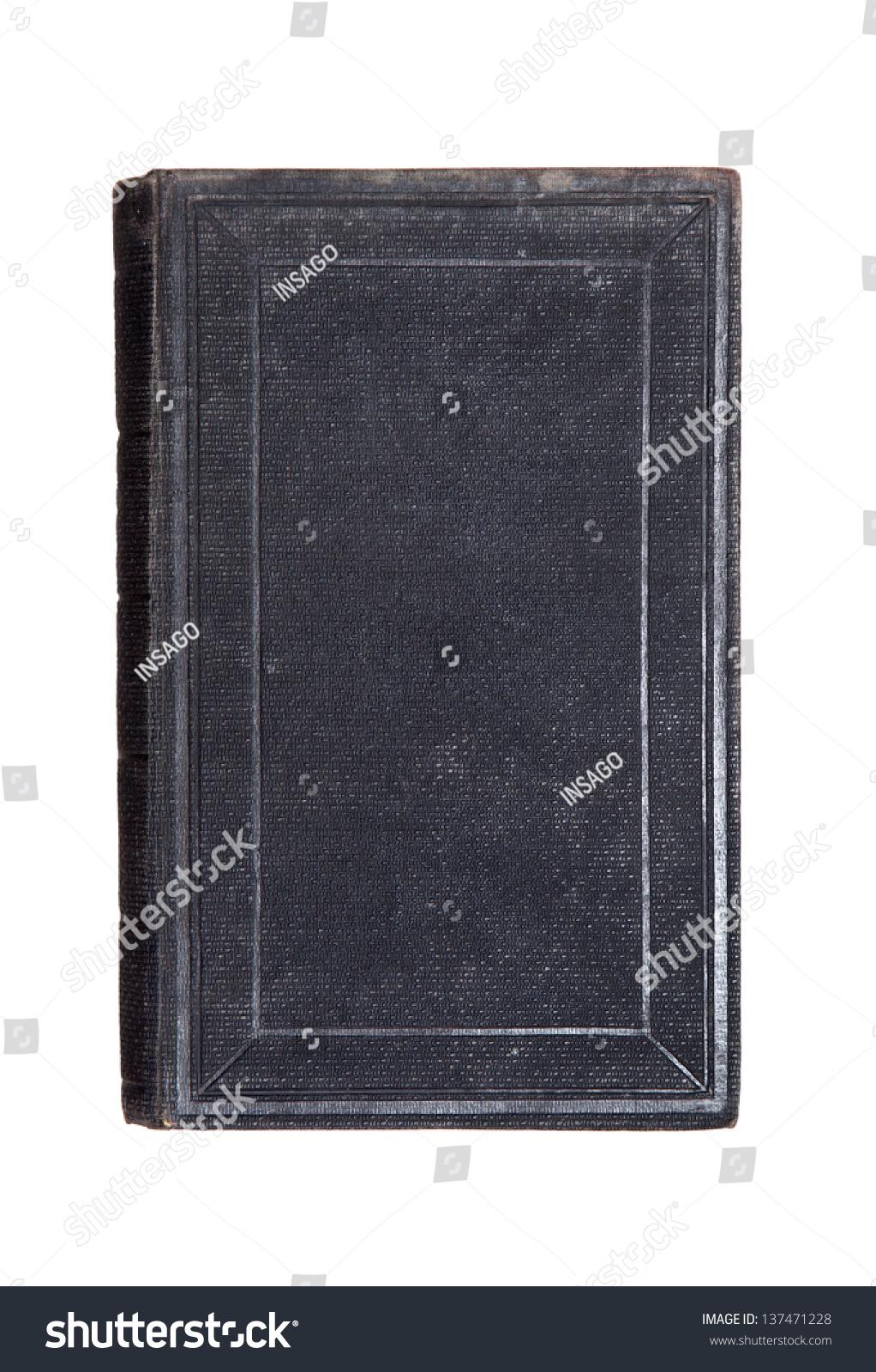Old Book Front Cover : Old book front cover isolated on white stock photo