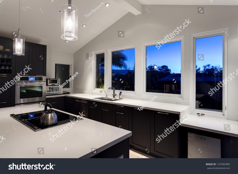 Interior Rich House Kitchen Stock Photo 137492999 Shutterstock