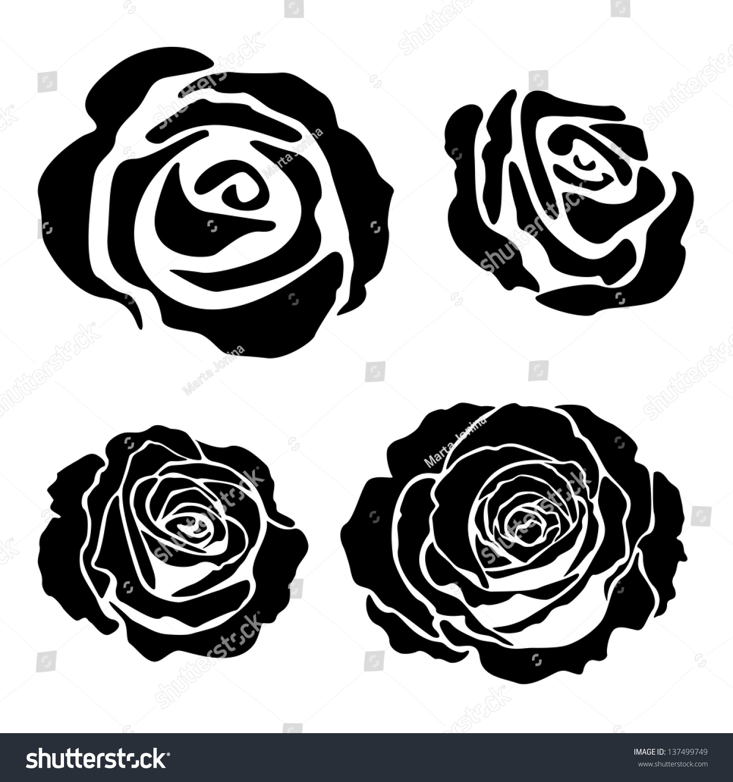 Simple Rose Silhouette | www.imgkid.com - The Image Kid ...