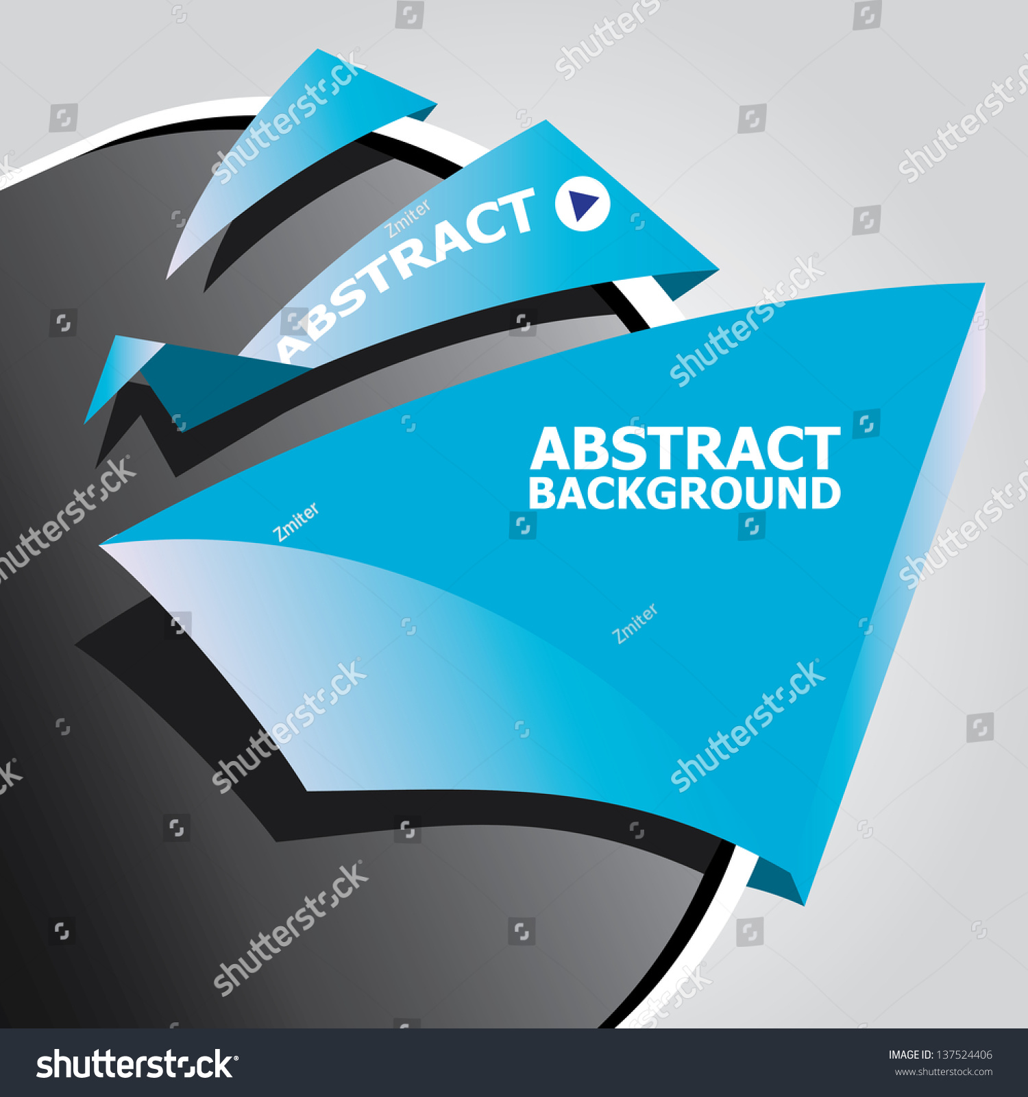 Abstract Black Blue Modern Circle Background Stock Vector Royalty Origami Dinosaurs A List Of Online Origamidinosaur Diagrams And With Paper Ribbon Speech Bubble