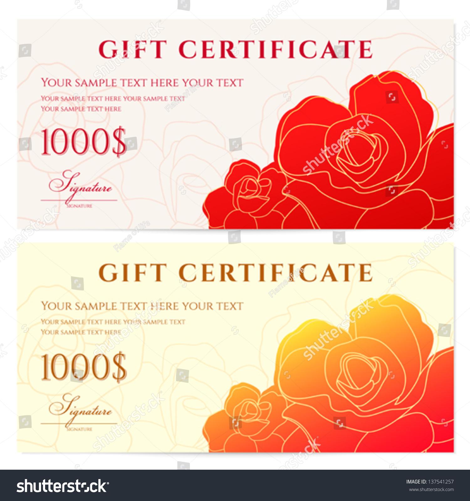 gift check sample