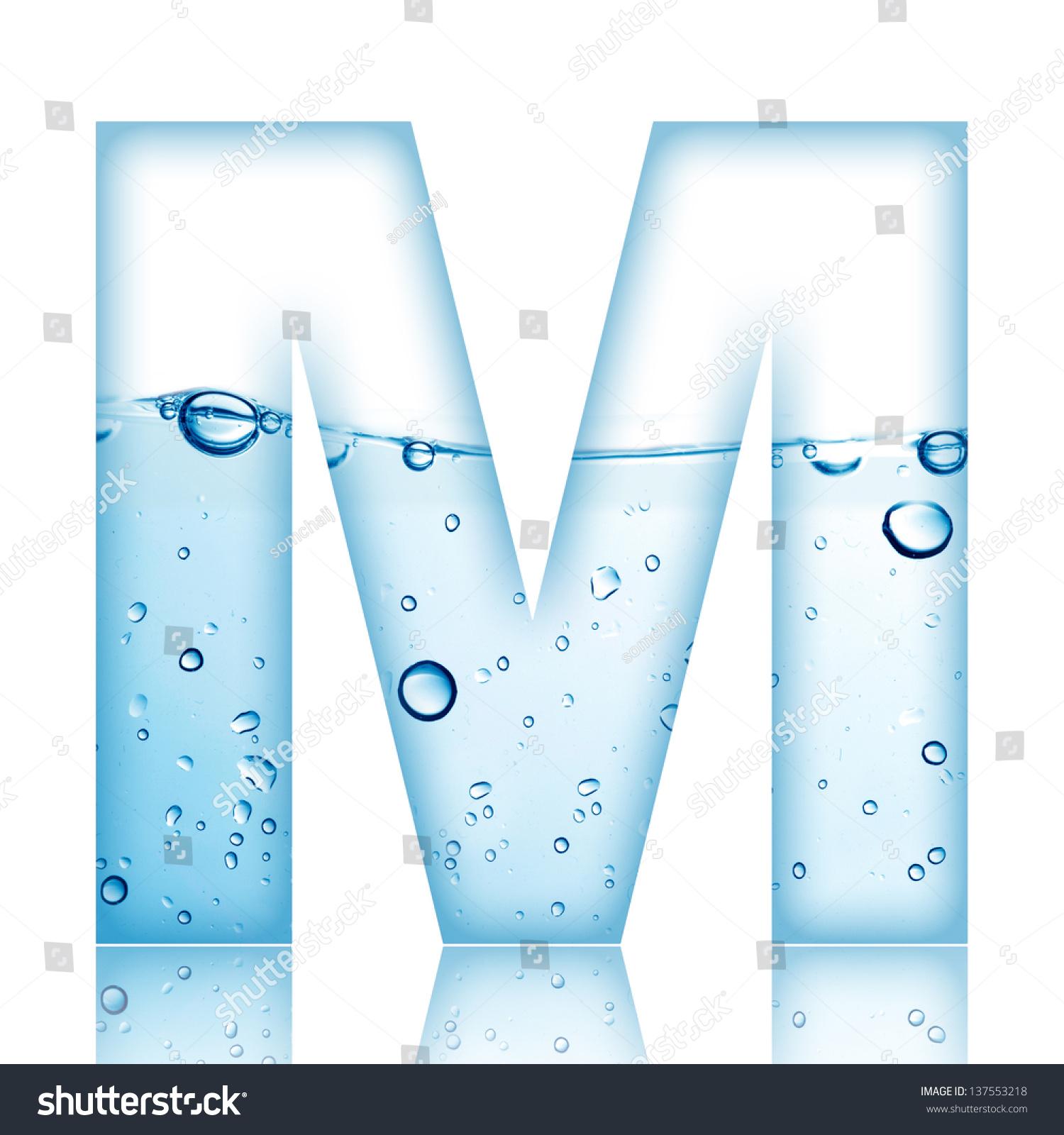 Water Water Bubble Alphabet Letter Letter Stock