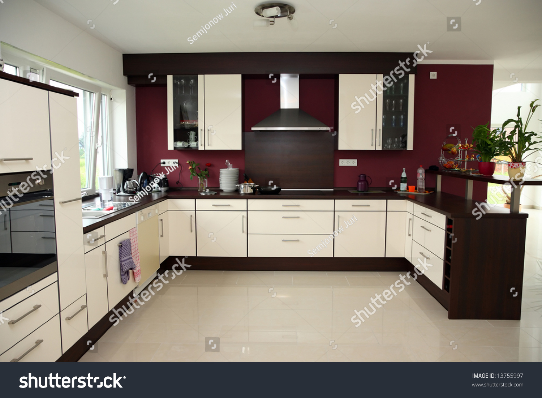 Modern Kitchen Interior Modern Kitchen Interior New Home Stock Photo 13755997 Shutterstock