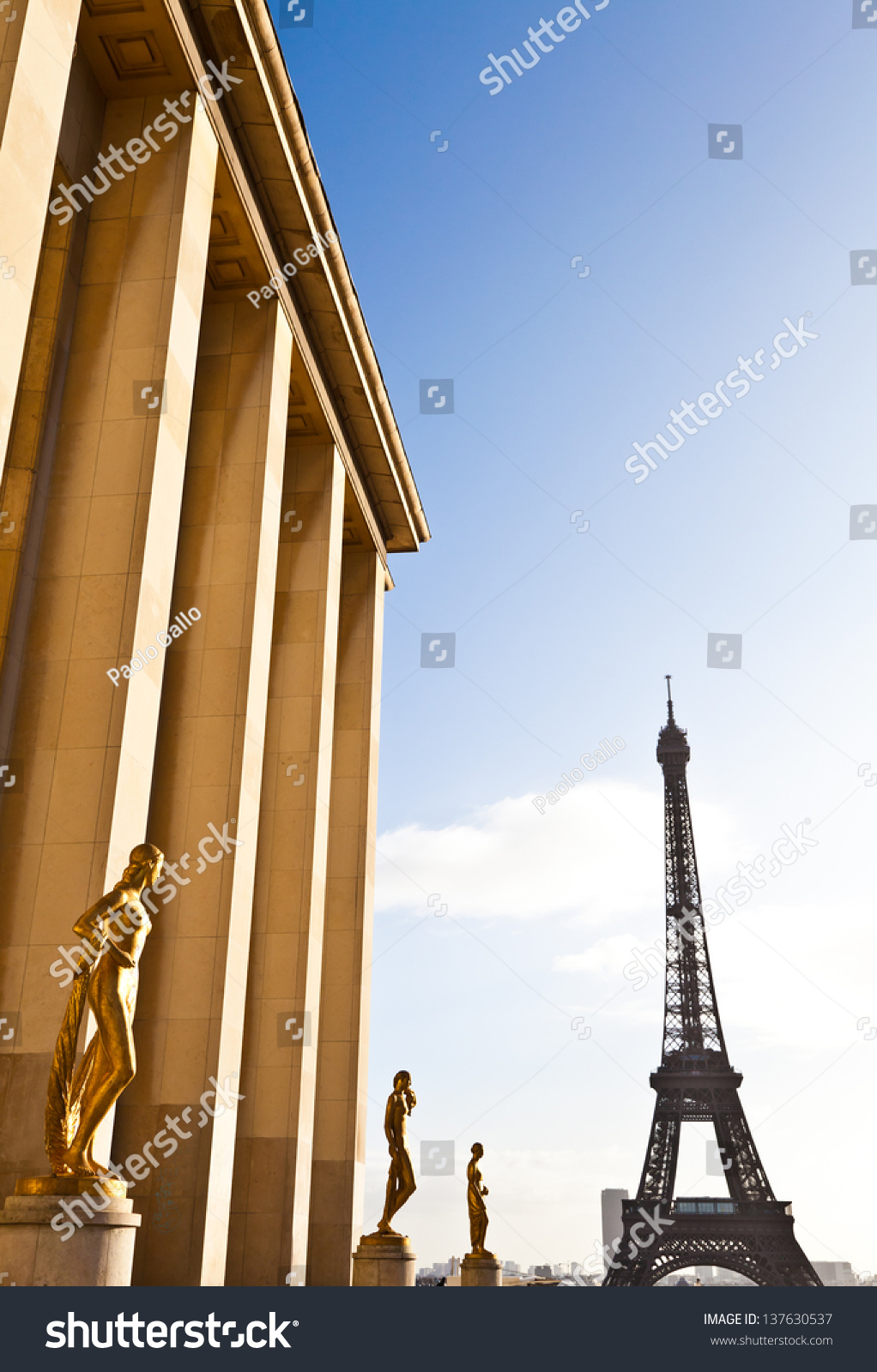 The Best Place In Paris To Have A Wonderful View On Eiffel Tower Trocadero Terrace Stock Photo