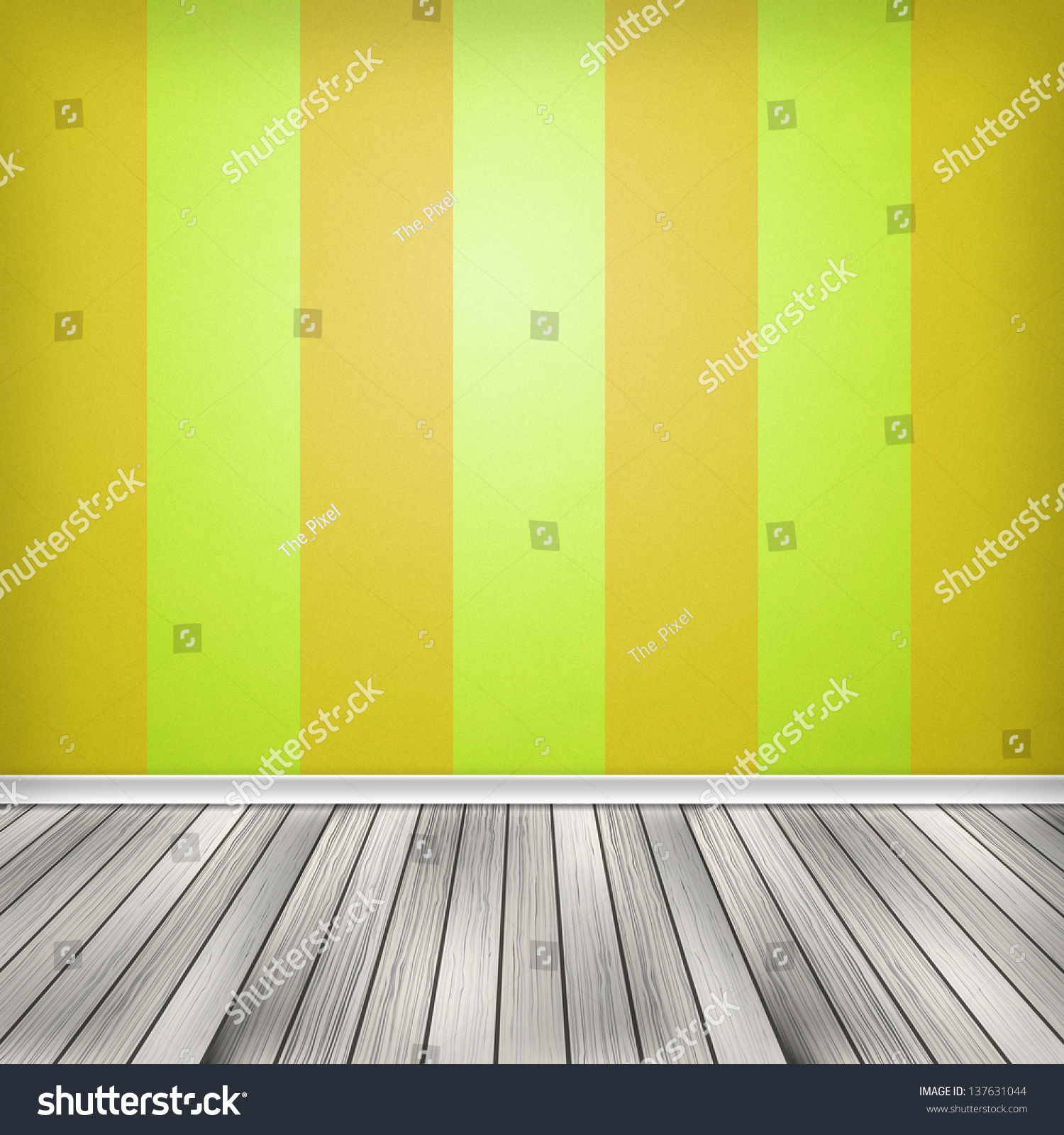 Background Colorful Room: Colorful Empty Room, Interior With Wallpaper. High