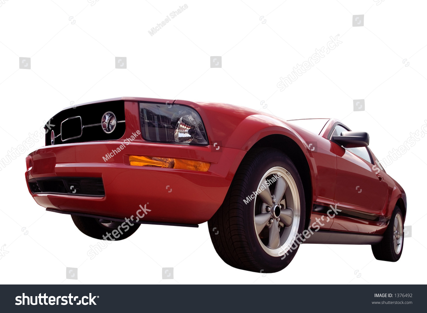 Red Sports Car Isolated On White Stock Photo 1376492 ...