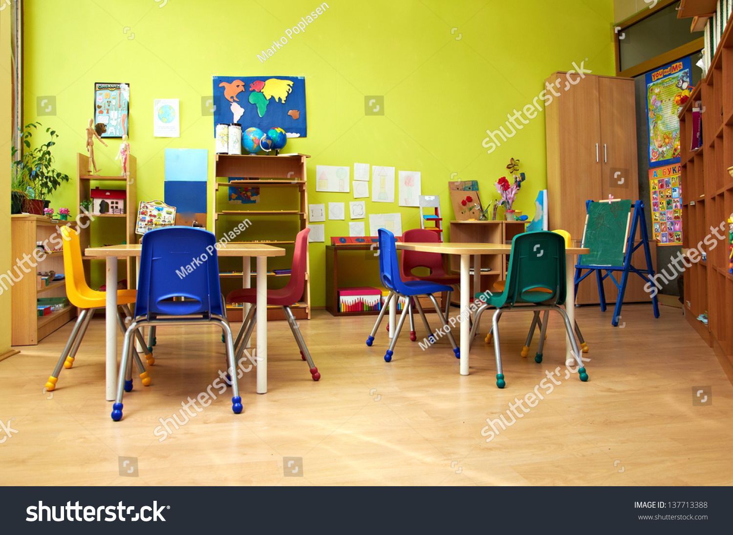 Worksheet Preschool Kindergarten montessori kindergarten preschool classroom stock photo 137713388 classroom