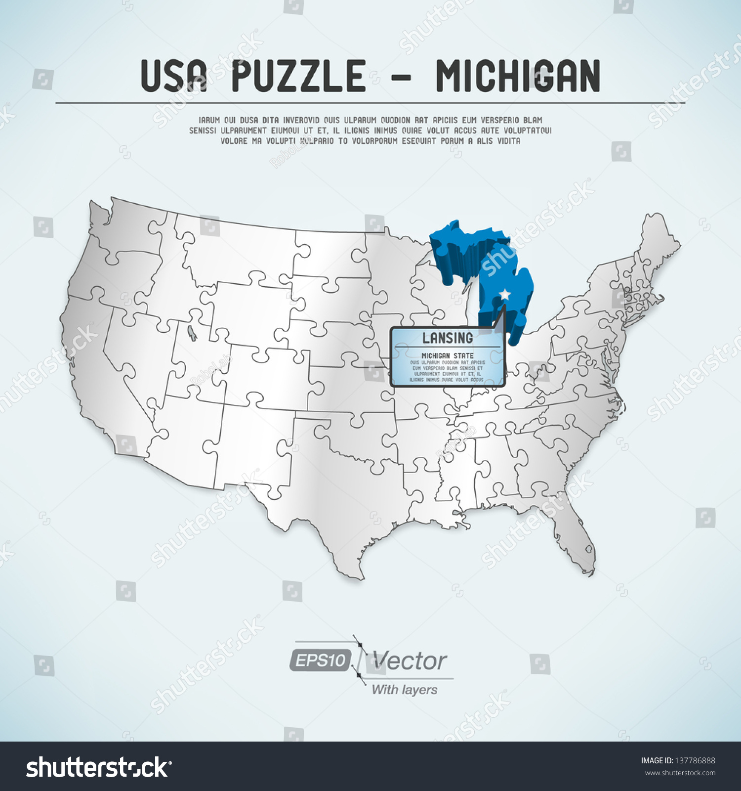 A Map Of Michigan Valencia Spain Map - Us map michigan state