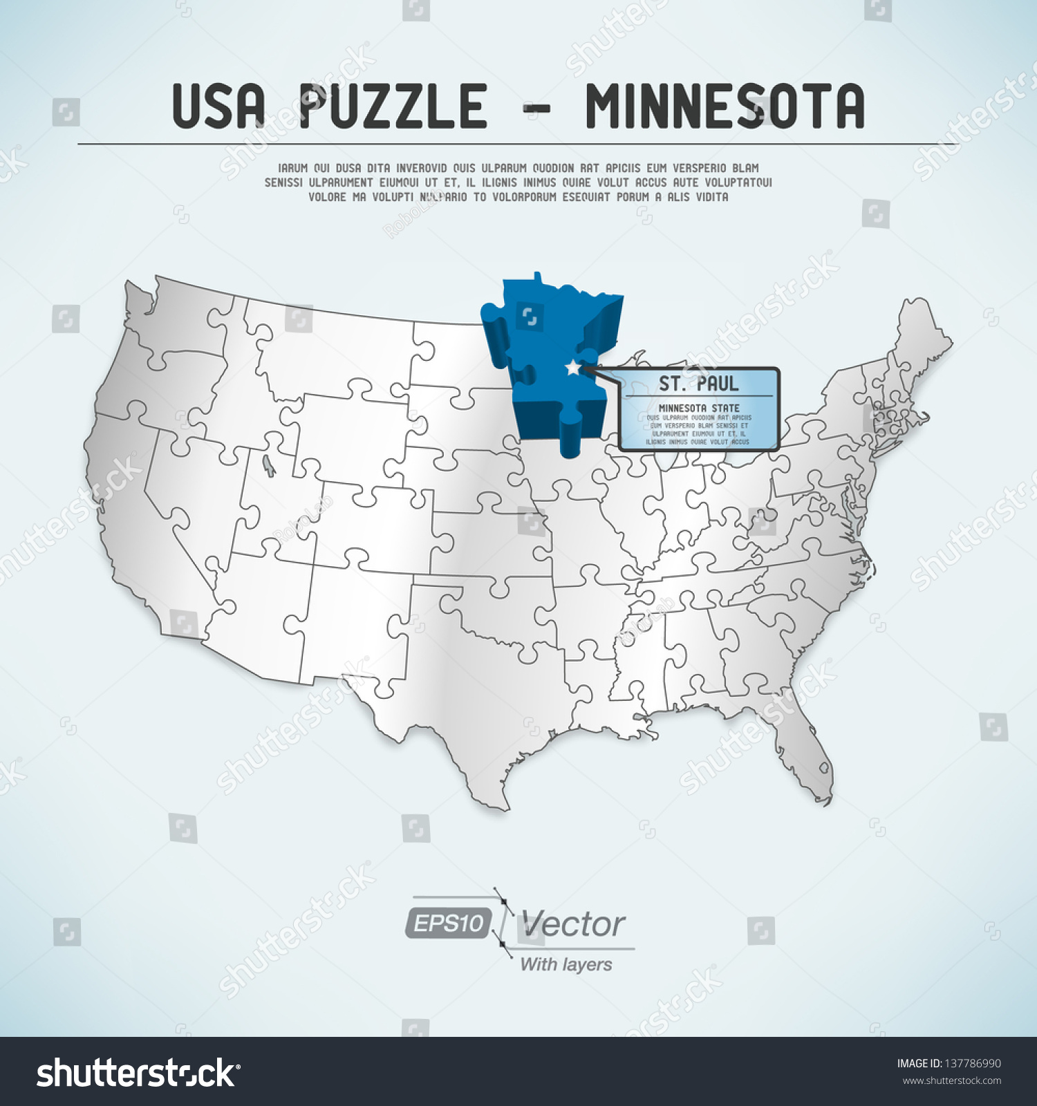 Usa Map States Minnesota - Minnesota in the us map