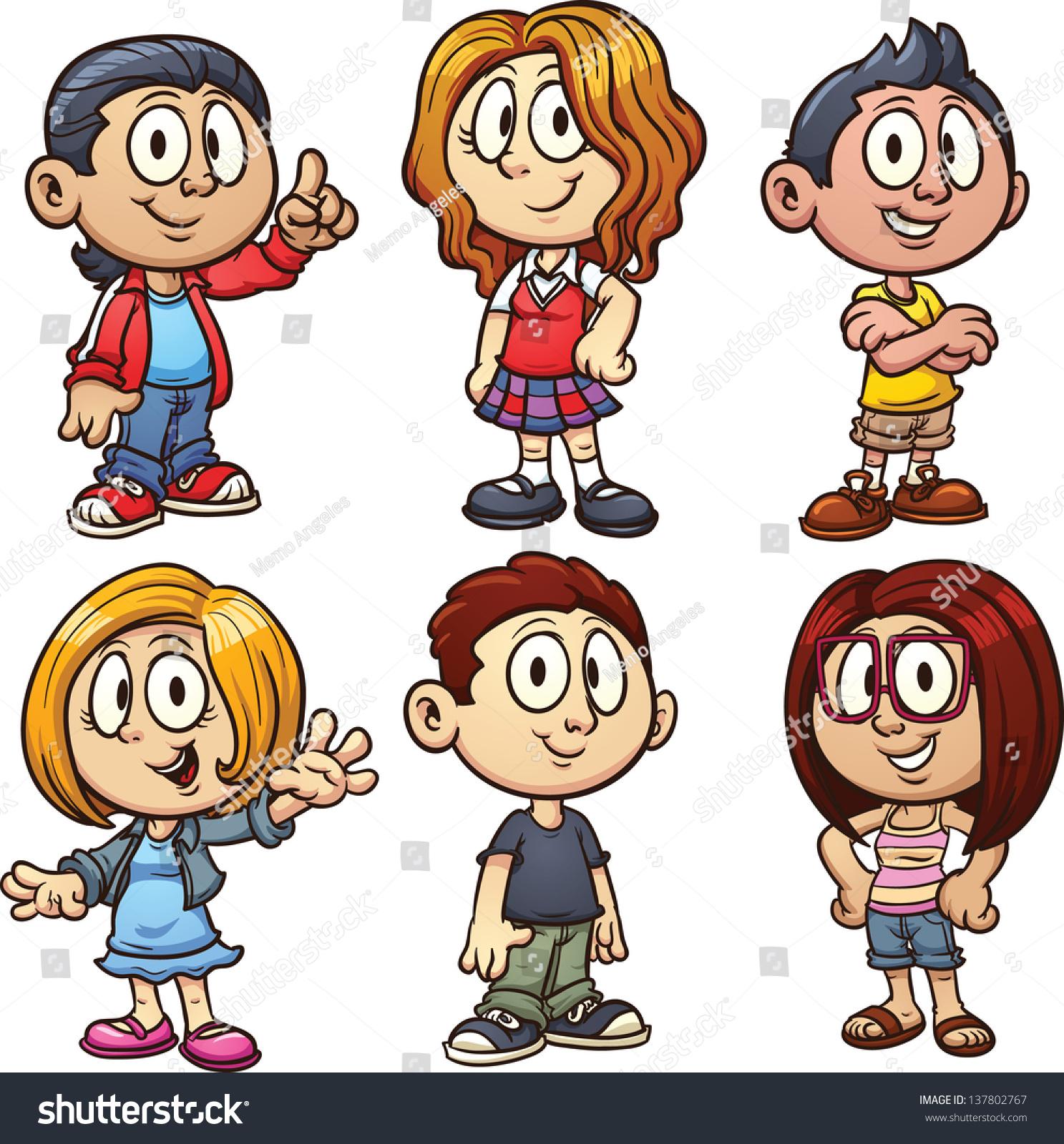 Cartoon Kids Vector Clip Art Illustration Stock Vector ...