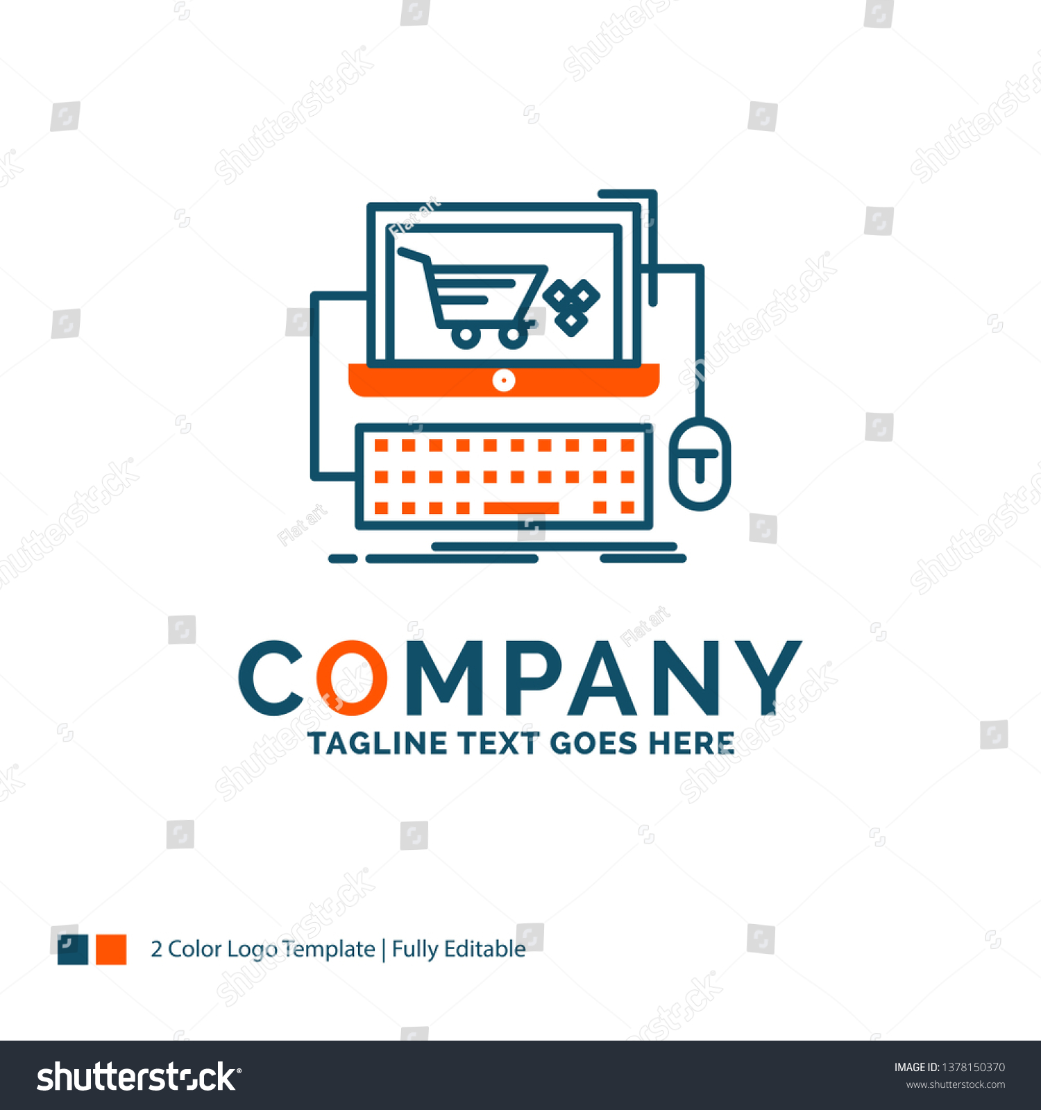 Cart Online Shop Store Game Logo Stock Vector (Royalty Free