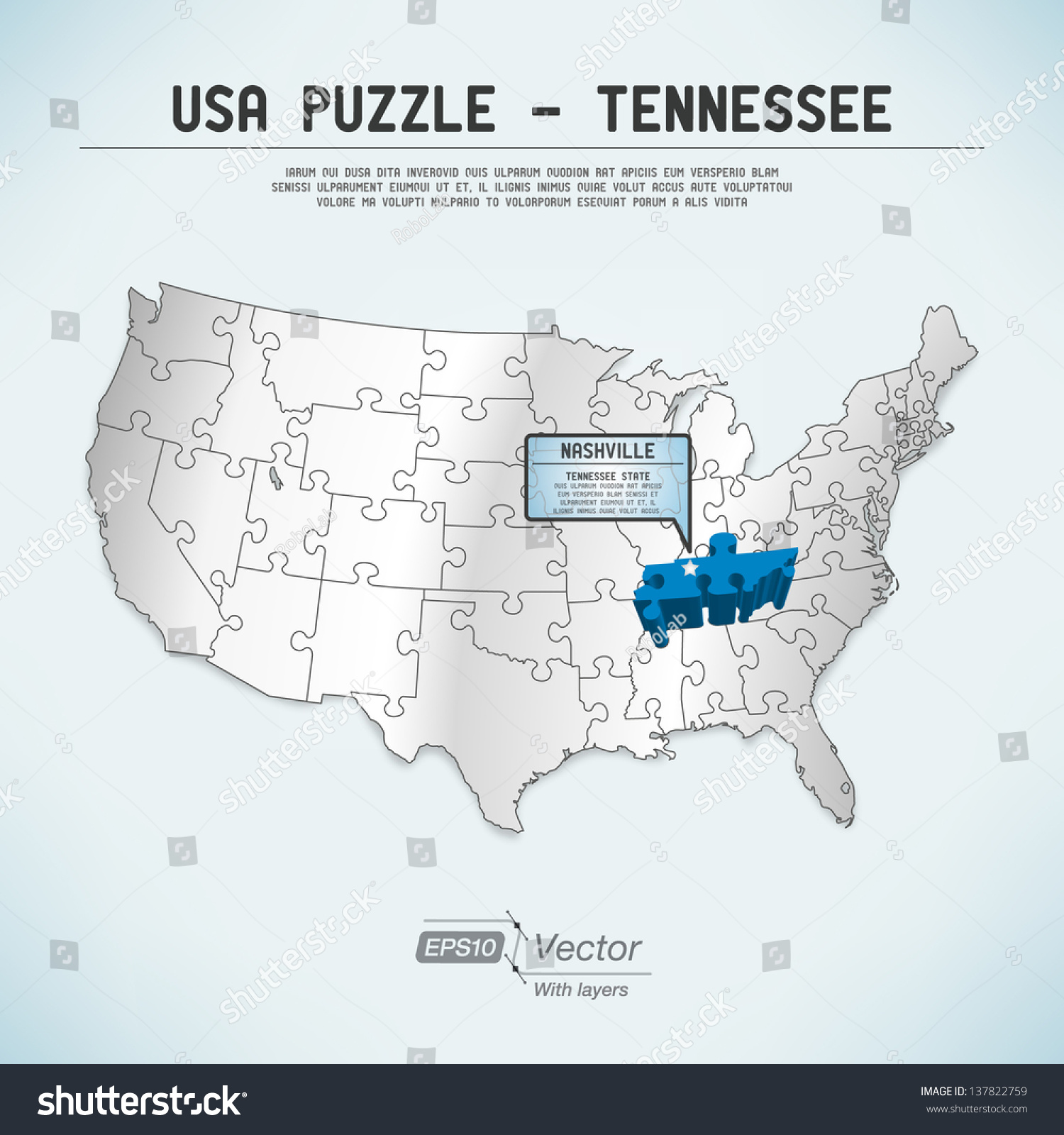 World Map Puzzle Vector Image Collections Word Map