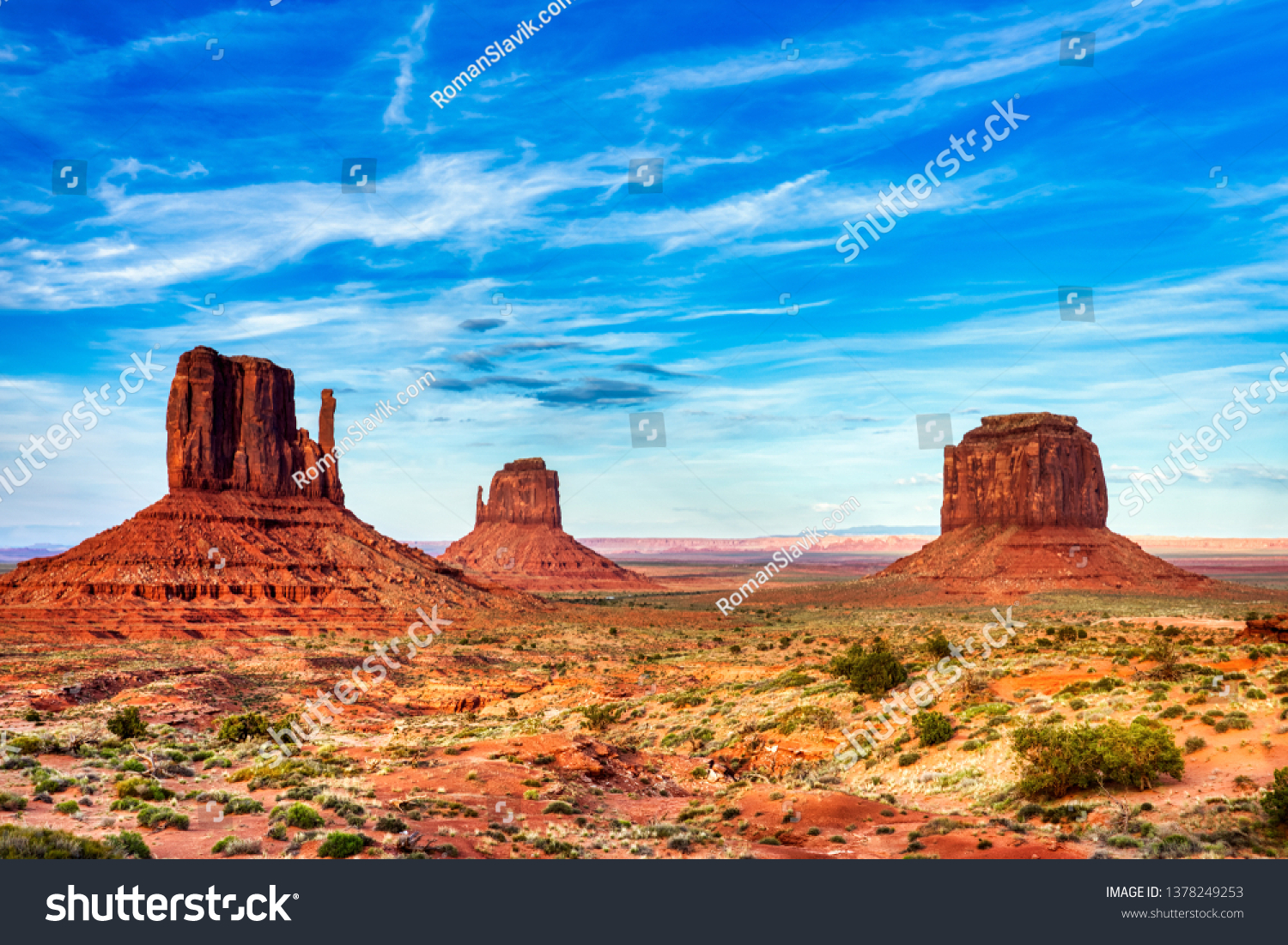 Monument Valley on the Border between Arizona and Utah, United States #1378249253