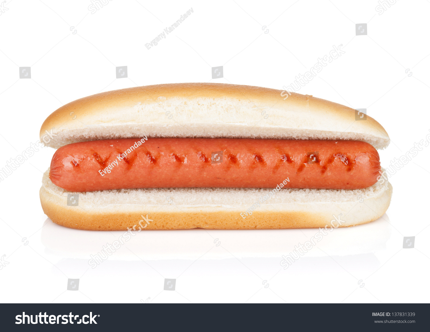 original hot dog isolated on white background stock photo 137831339 shutterstock. Black Bedroom Furniture Sets. Home Design Ideas