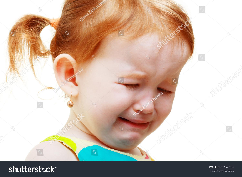 Sad Little 3 Years Old Girl Stock Photo 137843153 ...