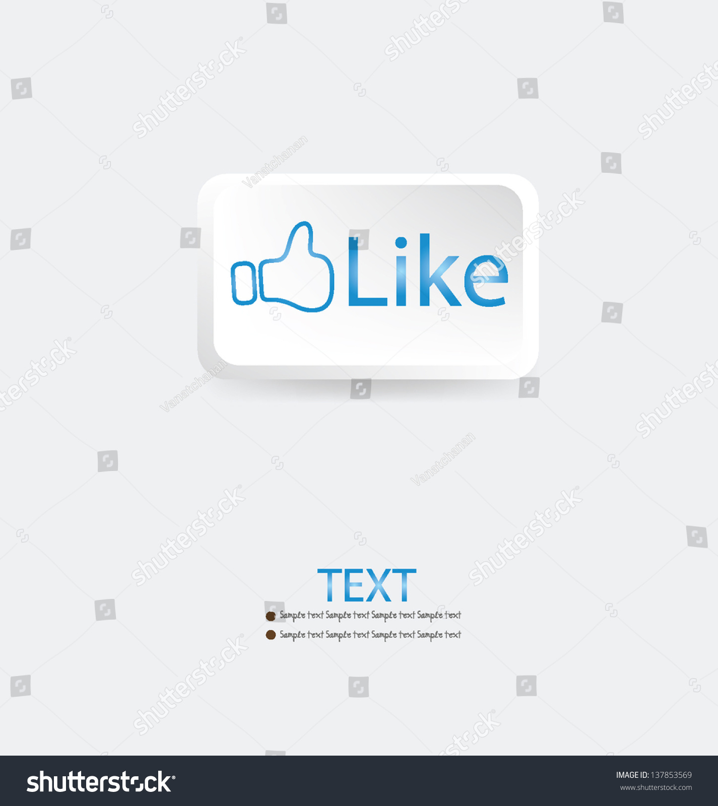 Like symbol vector illustration stock vector 137853569 shutterstock like symbol vector illustration buycottarizona Choice Image