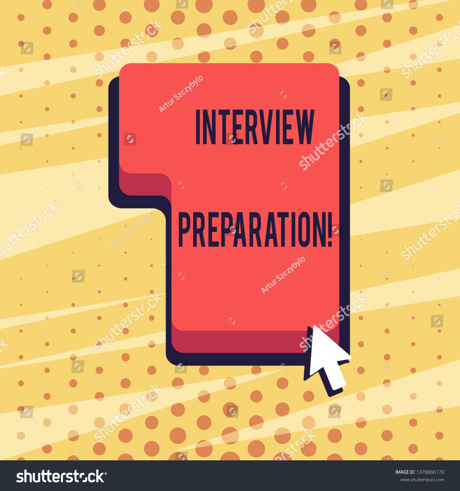 Handwriting Text Interview Preparation Concept Meaning Stock
