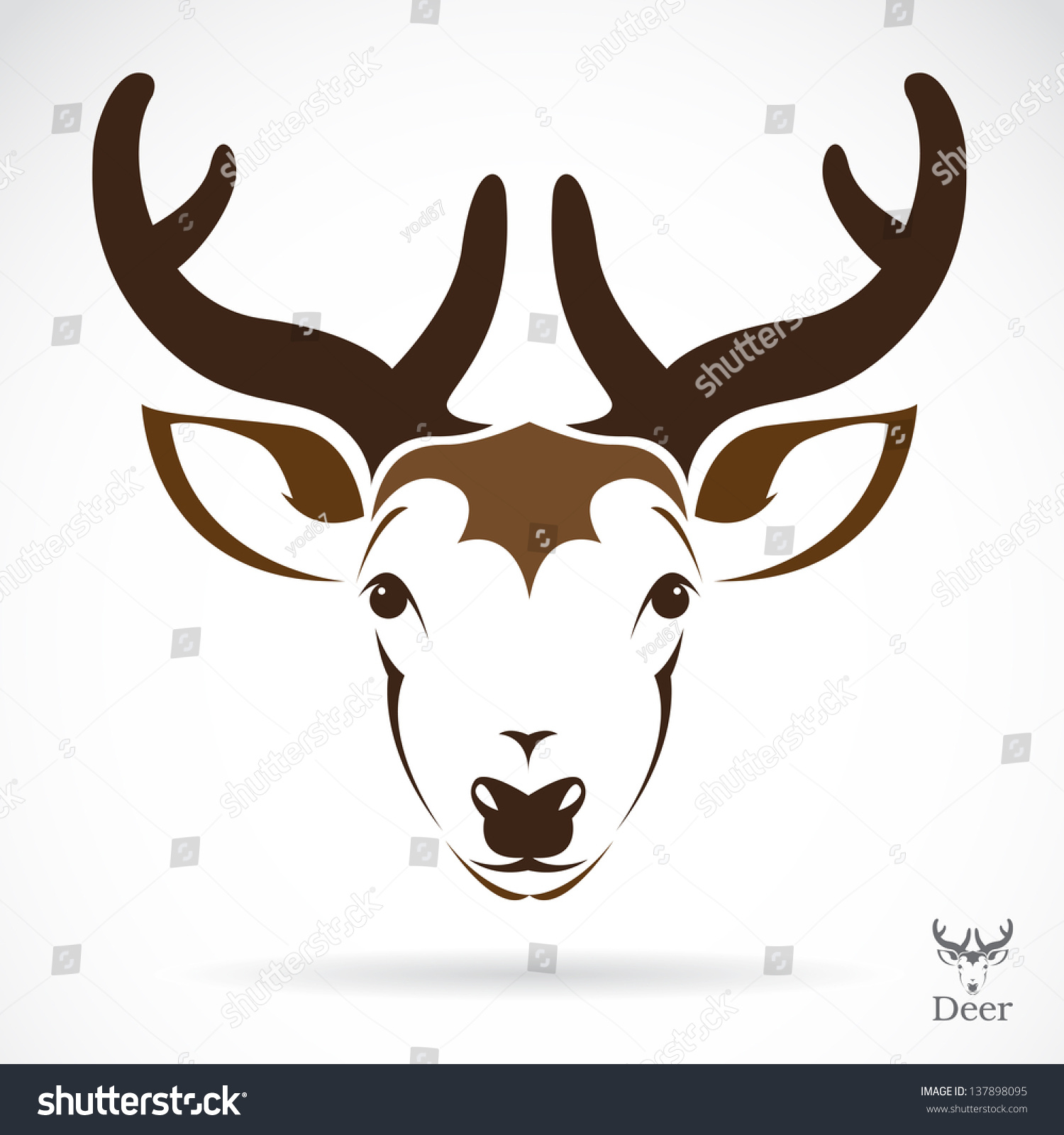 Vector Illustration Deer Symbol Tattoo Stock Vector Royalty Free