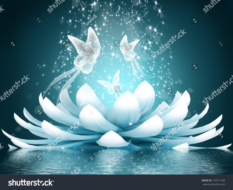 Beautiful lotus flower stock illustration 137911106 shutterstock beautiful lotus flower izmirmasajfo