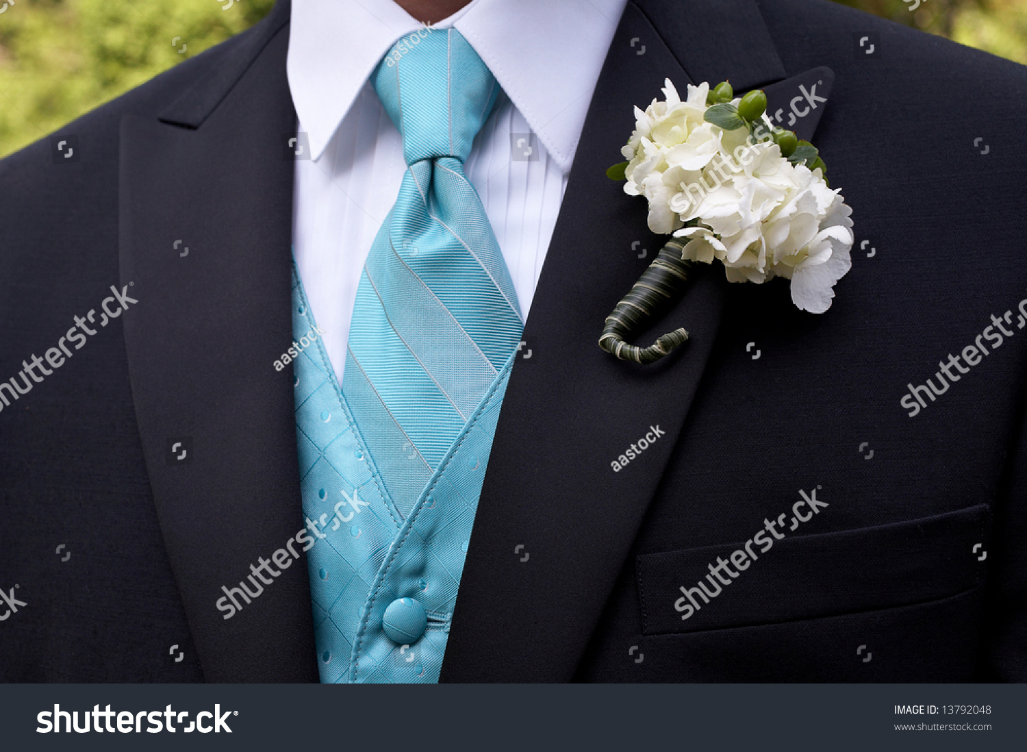 Wedding Boutonniere On Suit Jacket Groom Stock Photo (Royalty Free ...