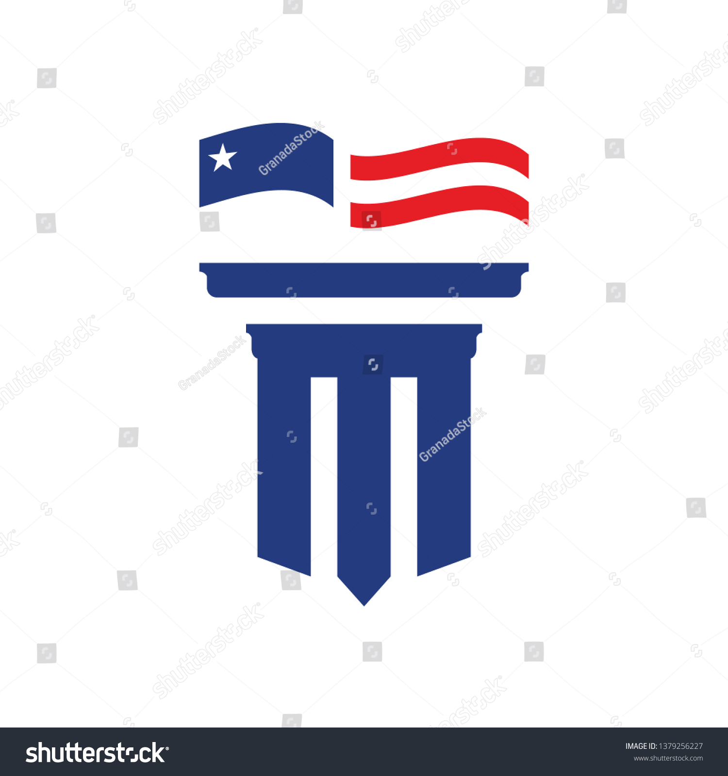 American Pillar Logo Stock Vector Royalty Free 1379256227