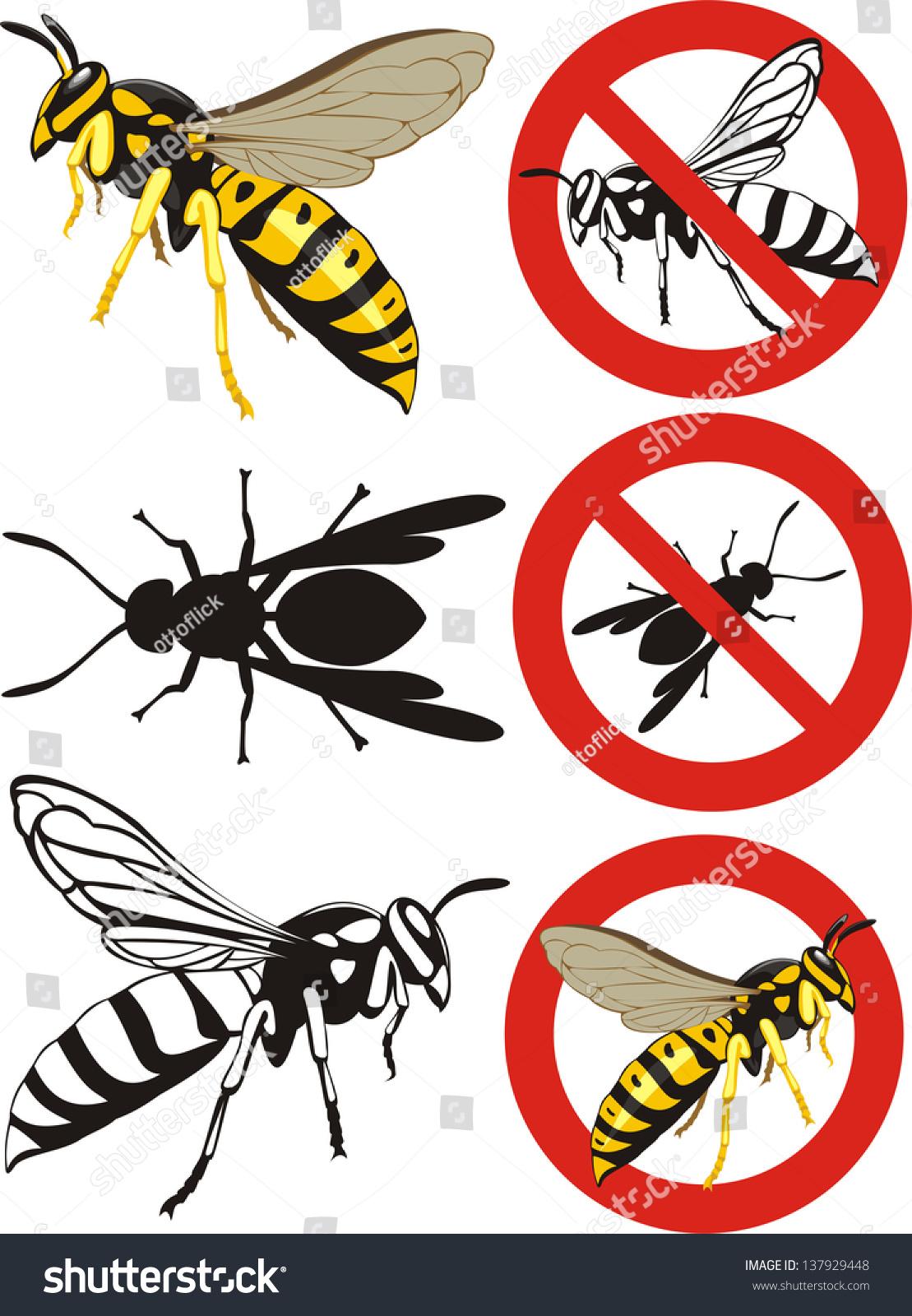 Wasp warning signs stock vector 137929448 shutterstock wasp warning signs biocorpaavc