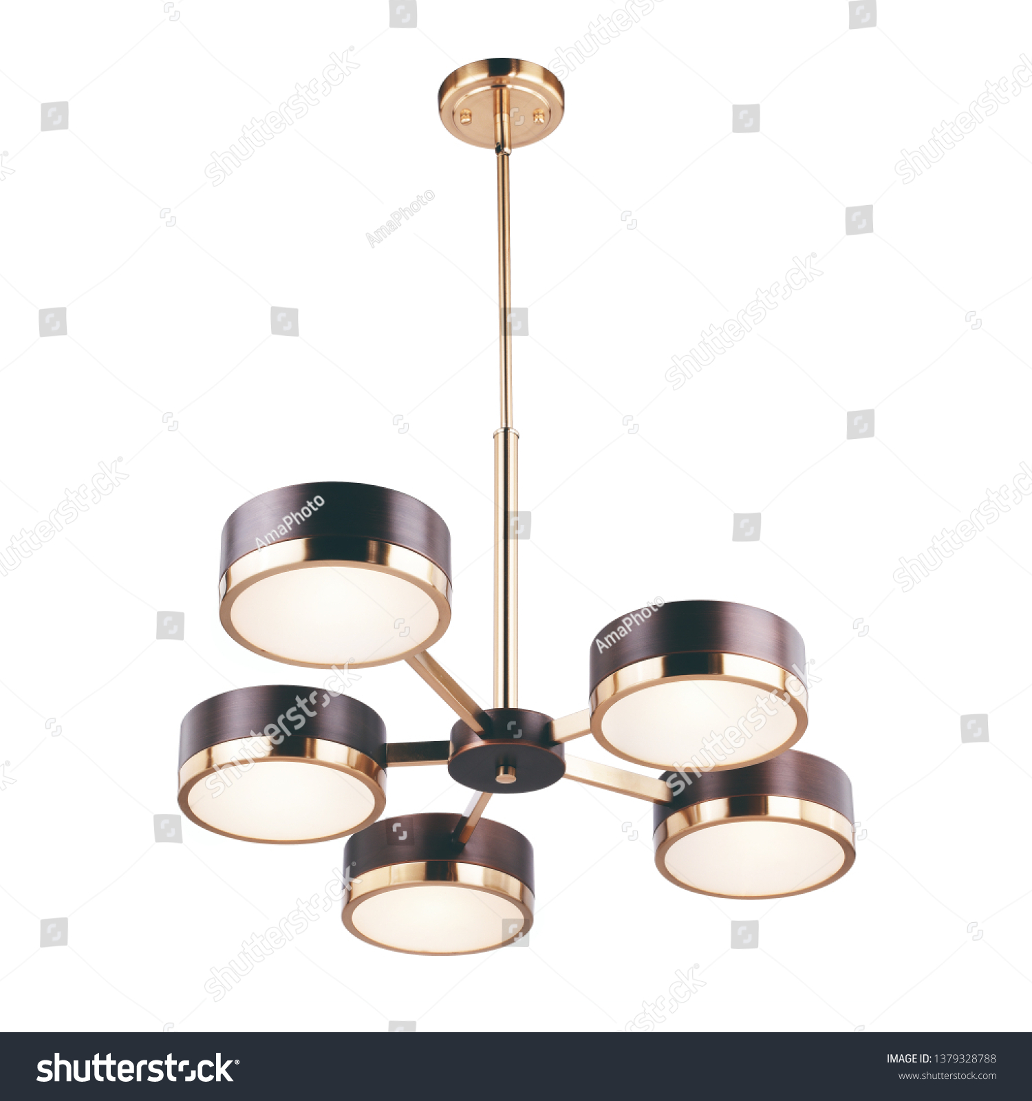 5 Light Chandelier Isolated On White Stock Photo Edit Now 1379328788