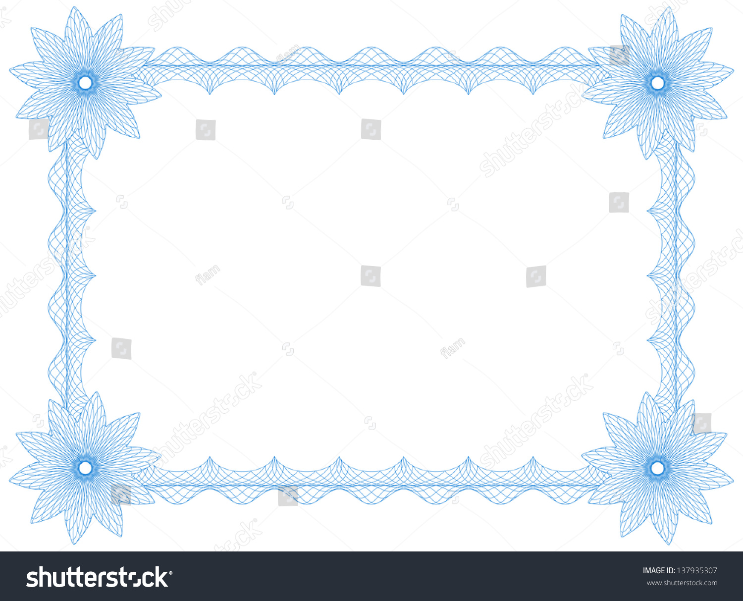 Frame Flowers Border Size A 4 Stock Vector Royalty Free 137935307