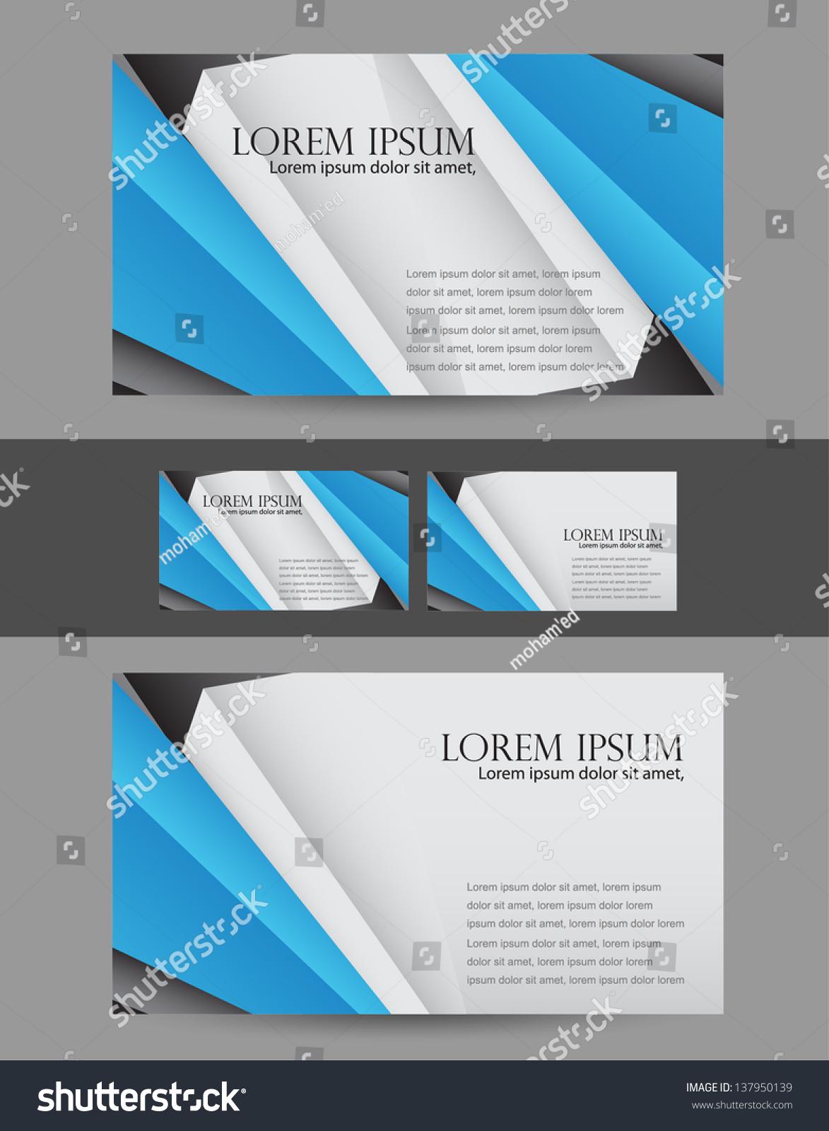 Modern business card stock vector 137950139 shutterstock modern business card magicingreecefo Images