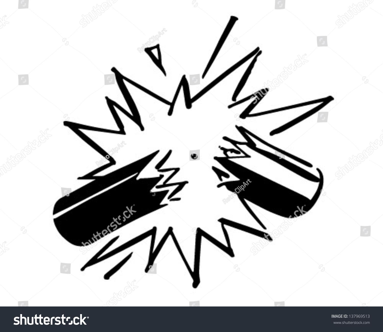 exploding firecracker retro clip art illustration stock vector hd rh shutterstock com