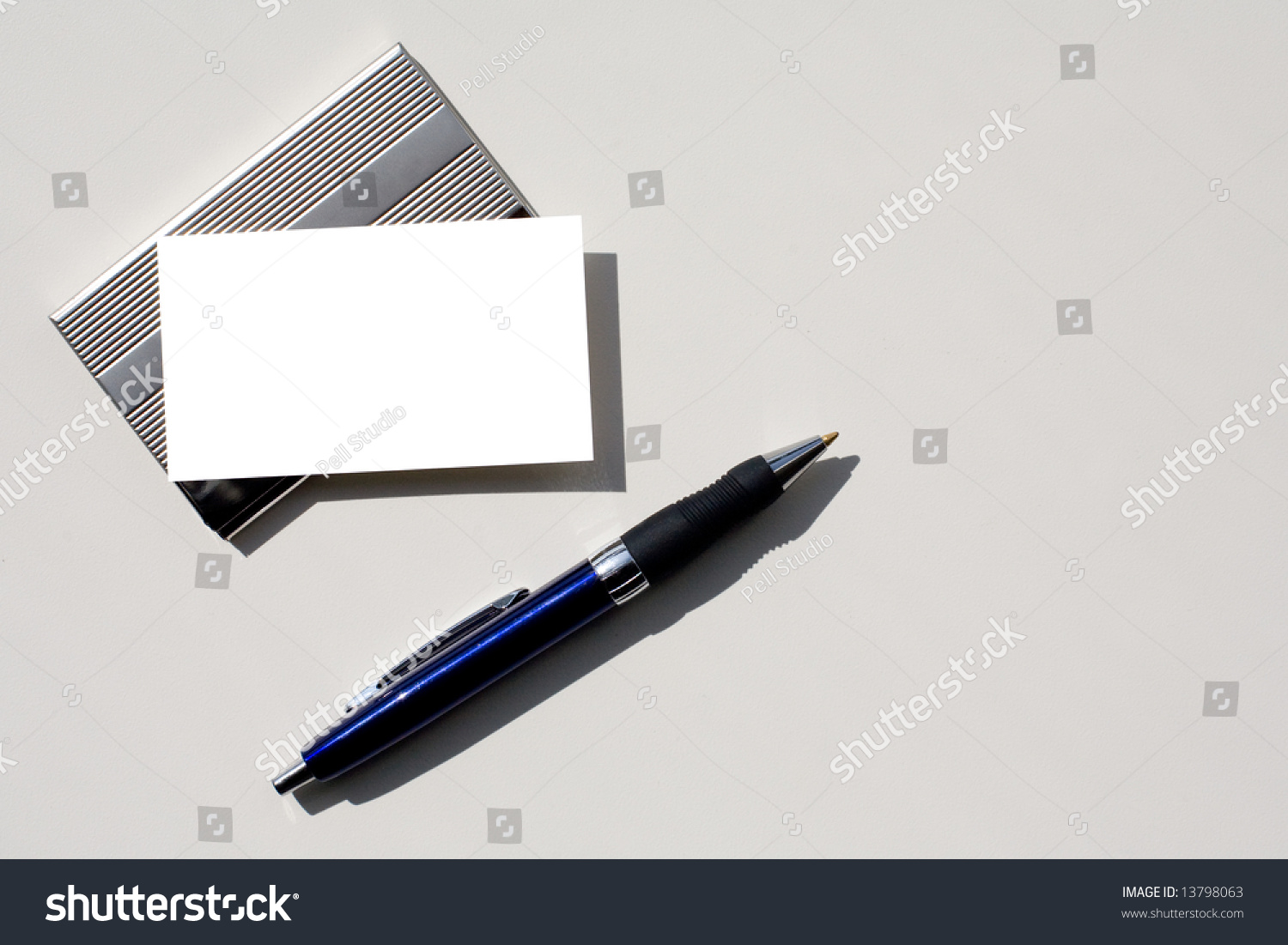 Blank Business Card Insert Your Own Stock Photo 13798063 - Shutterstock