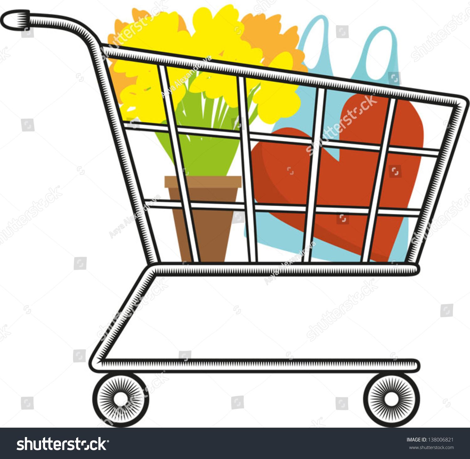 This is a picture of Crazy Shopping Cart Drawing
