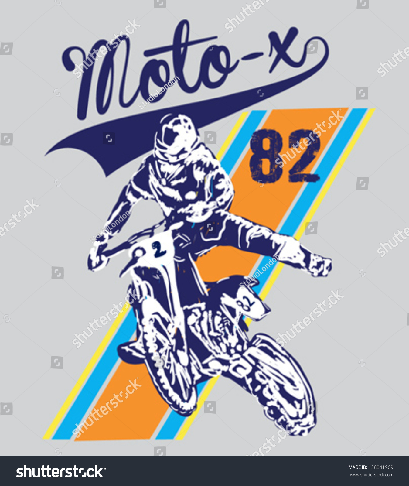 Design t shirt motocross - Motocross T Shirt Graphics Textile Graphic