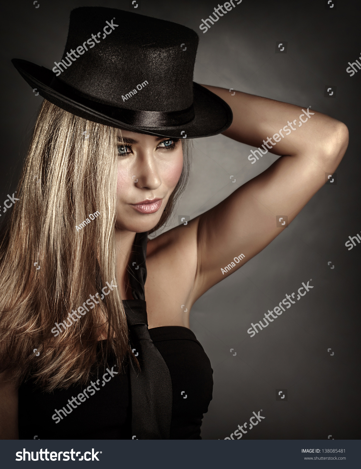 Closeup portrait of beautiful woman wearing stylish accessories isolated on  gray background f319f33eb86d